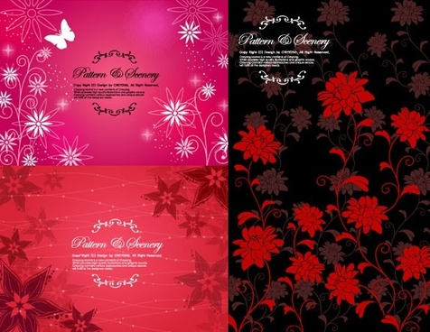 fashion flower pattern background vector