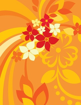 flowers background multicolored classical design