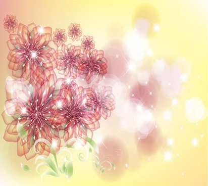 fashion flowers background vector