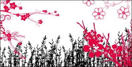 Fashion flowers, pattern, lace series