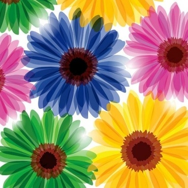 fashion flowers seamless pattern vectors