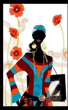 fashion girl vector 2 simple life