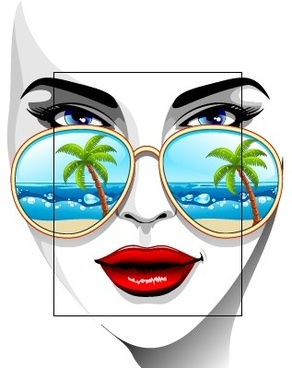 fashion girl with travel elements vector