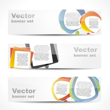fashion glossy banner 03 vector