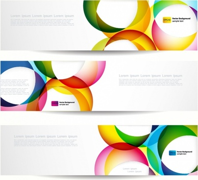 decorative banner templates colorful circles bright modern decor