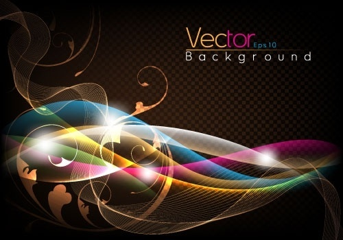 fashion halo dynamic background 03 vector