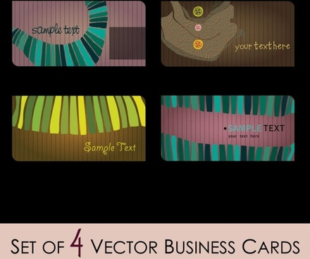 fashion illustrator business card 01 vector