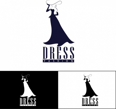 fashion logotype sketch dress icon design