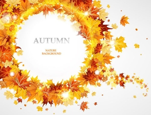 fashion maple leaf background 02 vector