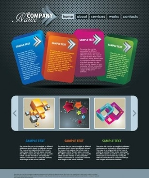 fashion modern website templates vector set