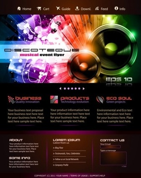 Dynamic Website Templates Free Vector Download Free Vector - Modern website templates
