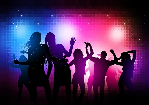 party background eventful silhouette design