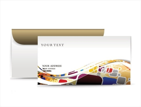 fashion pattern envelope 02 vector