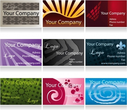 business card templates shiny modern colored design