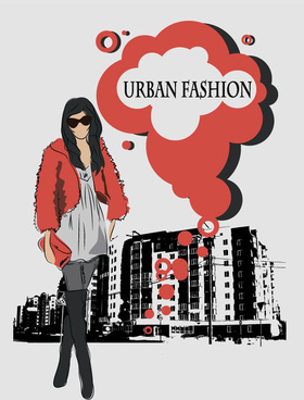 fashion people illustration free vector