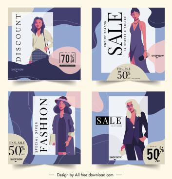 fashion sale poster templates elegant women decor