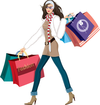 fashion shopping girls clip art free vector download 216 324 free rh all free download com clip art shopping center clip art shopping bags