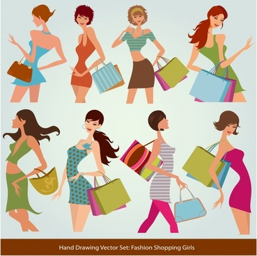 fashion shopping shopping silhouettes vector
