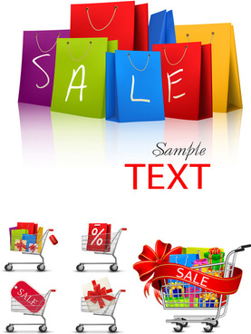 fashion shopping vector graphic