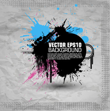 fashion splash effect with grunge background vector