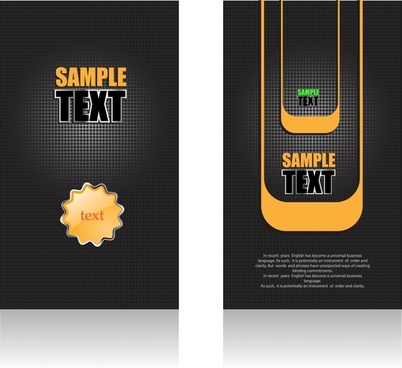 decorative background templates luxury modern black yellow design