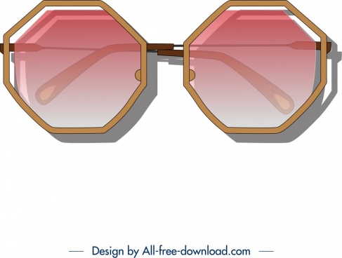 fashion sunglasses icon modern colored design