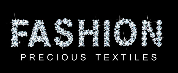 fashion text diamond