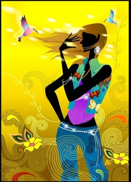 fashion vector girl living a simple 1