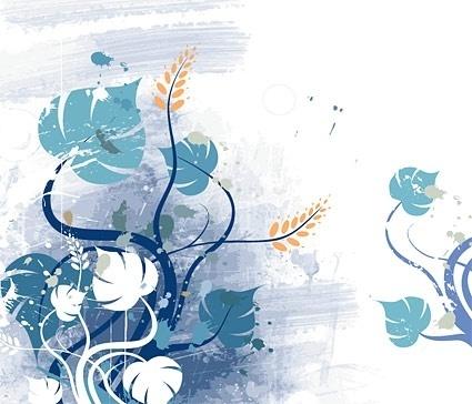 flowers background design retro grungy style