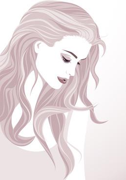 fashion woman abstract design vector