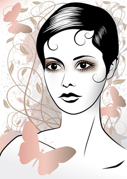 fashion woman abstract design vector