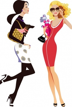 fashion women illustration vector