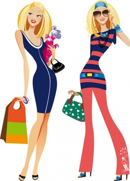 fashion women illustrator 02 vector