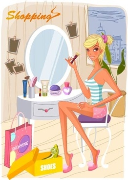 fashion women vector 21 shopping