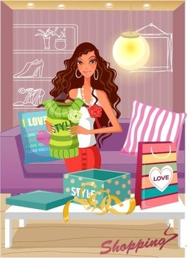 fashion women vector 22 shopping