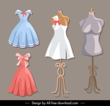 fashion work design elements mannequin dress sketch