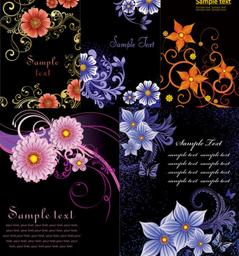 fashionable flower background vector graphics