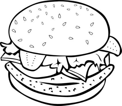 Fast Food Lunch Dinner Ff Menu clip art