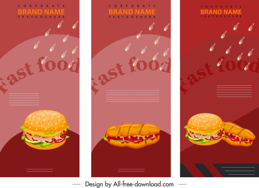 fast food menu cover modern colorful dynamic decor