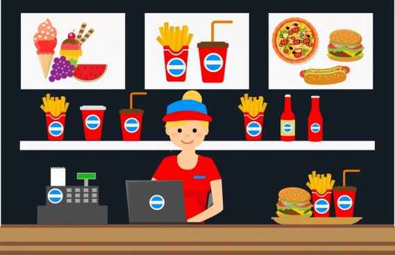 fast food store design food advertising display