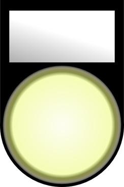 Fatboy Voyant Blanc Allume White Light On clip art
