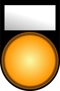 Fatboy Voyant Orange Allume Orange Light On clip art