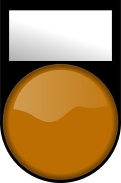 Fatboy Voyant Orange Eteint Orange Light Off clip art