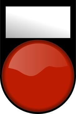 Fatboy Voyant Rouge Eteint Red Light Off clip art