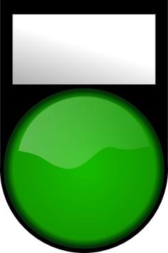 Fatboy Voyant Vert Eteint Green Light Off clip art