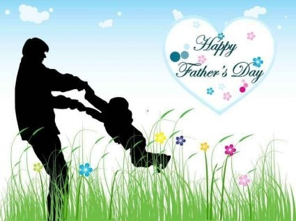 father day background shiny vector set