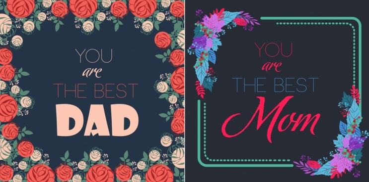 father mother day banner / 159 templates colorful flowers decor
