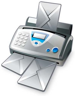 fax machine icon vector