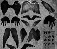 Feathered Angel Wings Brushes