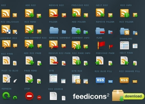 Feed icons v2 icons pack